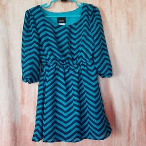 Holiday Editions, Turquoise Pinstripe Dress